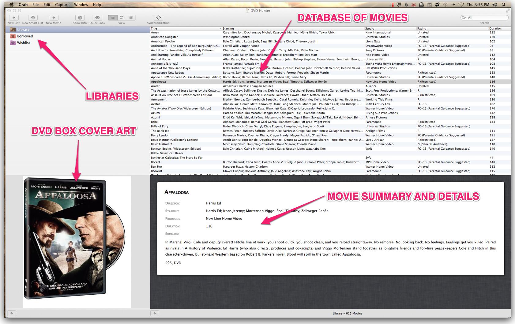 DVD Hunter User Interface Explained