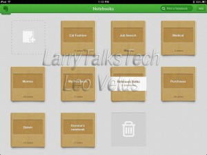 Evernote Notebook Screen