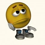 troubled emoticon