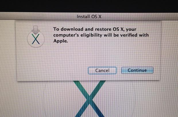 OS X Elgibility Screen