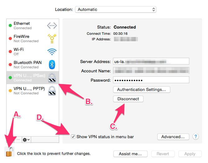 VPN Network Settings