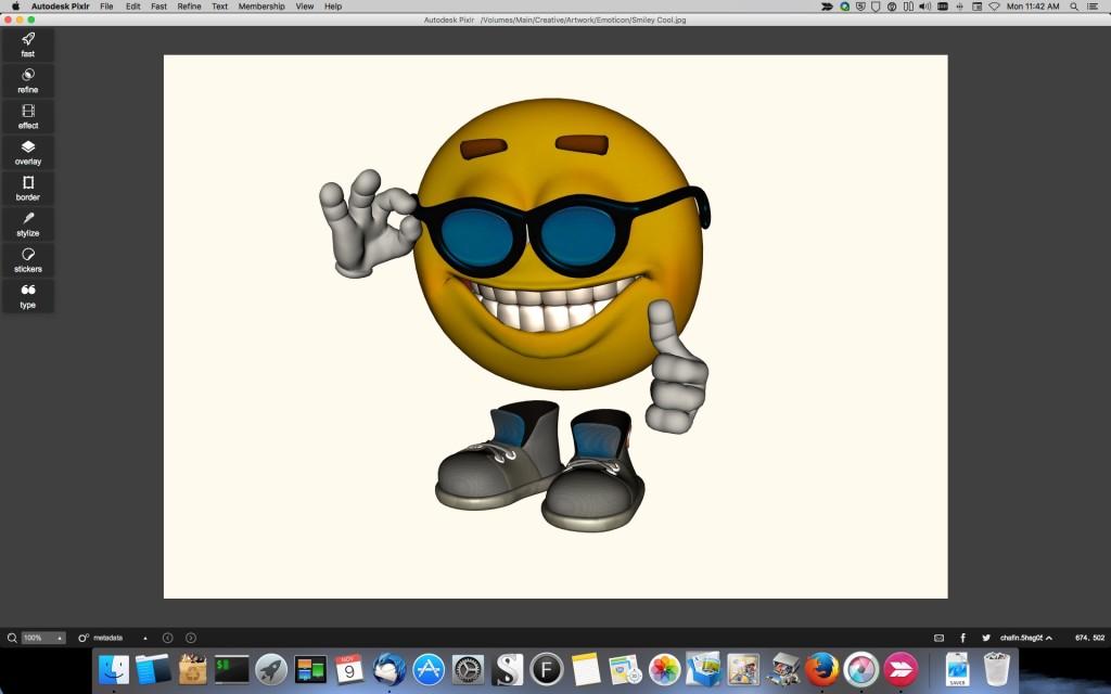 Smiley edit with Pixlar basic