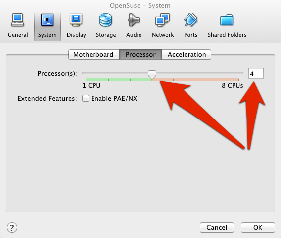 VirtualBox Processor Adjustment | larrytalkstech.com