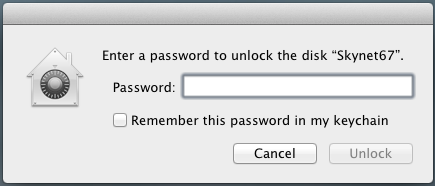 Encrypted Drive Login